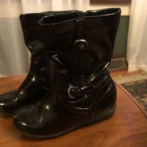 Nordstrom black patent leather boots